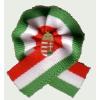 Eredeti egyszerű címeres kokárda (5x5 cm), 15 mm-es jelvénnyel