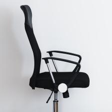 Ergonomikus irodai szék magasított háttámlával, fekete forgószék