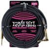 Ernie Ball 10' Braided Straight Angle Black