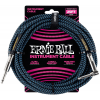 Ernie Ball 25' Braided Straight / Angle Instrument Cable Neon Blue/Black
