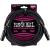 Ernie Ball 25' Male/Female XLR Mic Cable Black