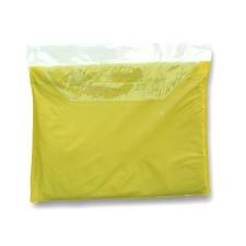 Esőkabát, vékony vinil, sárga esernyő