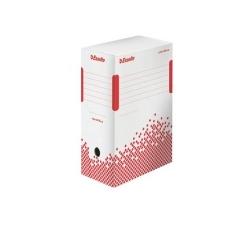 """ESSELTE archiváló doboz, A4, 150 mm, újrahasznosított karton, """"Speedbox"""", fehér irattartó"""