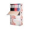 ESSELTE Archiváló konténer, karton, előre nyíló, iratrend