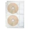 ESSELTE Genotherm, lefűzhető, A4, PP/textil, 200 mikron, víztiszta felület, CD/DVD tartó, ESSELTE