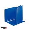 ESSELTE Gyûrûs könyv, panorámás, 4 gyûrû, D alakú, 35 mm, A4, PP/PP, ESSELTE, kék