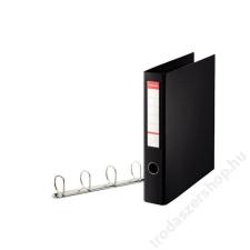 """ESSELTE Gyűrűs dosszié, 4 gyűrű, 58 mm, A4, PP/PP, ESSELTE """"Jumbo"""", fekete gyűrűskönyv"""