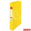 "ESSELTE Gyűrűs könyv, 4 gyűrű, 42 mm, A4, PP/PP, ESSELTE ""Standard"", Vivida sárga"