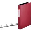 """ESSELTE Gyűrűs könyv, 4 gyűrű, 42 mm, A4, PP/PP,  """"Standard"""", bordó"""