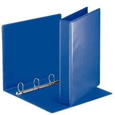 ESSELTE Gyűrűs könyv, panorámás, 4 gyűrű, D alakú, 50 mm, A4, PP/PP, , kék mappa