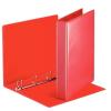 ESSELTE Gyűrűs könyv, panorámás, 4 gyűrű, D alakú, 50 mm, A4, PP/PP, , piros