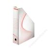 ESSELTE Iratpapucs, karton, 80 mm, összehajtható, ESSELTE, fehér (E493222)