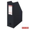 ESSELTE Iratpapucs, PVC/karton, 100 mm, összehajtható, ESSELTE, Vivida fekete