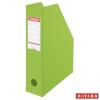 ESSELTE Iratpapucs, PVC/karton, 70 mm, összehajtható, ESSELTE, Vivida zöld