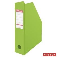 ESSELTE Iratpapucs, PVC/karton, 70 mm, összehajtható, ESSELTE, Vivida zöld irattartó