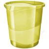 ESSELTE Papírkosár, 14 liter, ESSELTE Colour` Ice, áttetsző sárga (E626287)