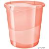 "ESSELTE Papírkosár, 14 liter, ESSELTE ""Colour' Ice"", áttetsző barack"