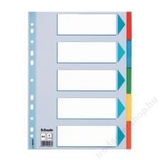 """ESSELTE Regiszter, karton, A4, 5 részes, írható előlappal, ESSELTE """"Standard"""", színes regiszter és tartozékai"""