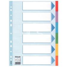 """ESSELTE Regiszter, karton, A4, 6 részes, írható előlappal, ESSELTE """"Standard"""", színes kreatív papír"""