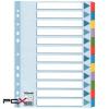 """ESSELTE Regiszter, laminált karton, A4, 12 részes, ESSELTE """"Mylar"""", színes"""
