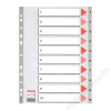 ESSELTE Regiszter, műanyag, A4, 1-10, ESSELTE, szürke (E100105)