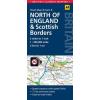 Észak-Anglia és a Skót határ térkép - AA