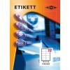 Etikett címke pd 105x57 szegéllyel 1000 db/doboz