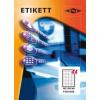 Etikett címke pd 48.5x25.4 szegéllyel 4400 db/doboz
