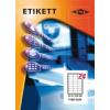 Etikett címke pd 64.3x33.8 szegéllyel 2400 db/doboz