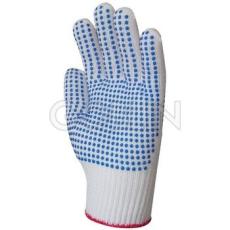Euro Protection 100% poliamid kesztyû mindkét oldalán kék pettyekkel, kopásálló, 10 pár