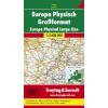 Európa domborzata (nagy formátumú) térkép - f&b AK 2201 DF