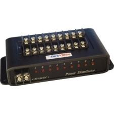 EuroVideo EVA-PD009 FESZÜLTSÉG OSZTÓ, 9 KIMENET, TÚLFESZ.ÉS VILLÁMVÉD.BE/KIMENET 1-30VAC/DC,MAX. 9A biztonságtechnikai eszköz