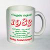 Évszámos bögre 32, 1983.