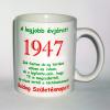 Évszámos bögre 68, 1947.