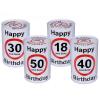 Évszámos persely szülinapra, Happy Birthday 18, 30, 40, 50 éves (30-as)