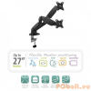 "Ewent EW1516 Desk Mount with gas spring for 2 monitors up to 27"" with and VESA"