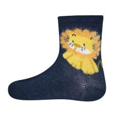 EWERS fiú zokni oroszlán, 16 -17, kék