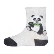 EWERS gyerek zokni panda GOTS teszttel, 16-17, szürke