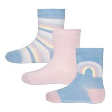 EWERS lány zokni 3 darabos szett, szivárványos, 17 - 18, kék