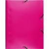 Exacompta gumis mappa PP  rózsaszín  A4