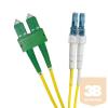 Excel-Networking Optikai duplex patch kábel SC/APC-LC/UPC 9/125 OS2 2m-YELLOW (201-042) EXCEL