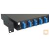 Excel-Networking Optikai patch panel 1U SM SC duplex 12 port, 8 SC duplex toldóval töltve (200-482) EXCEL