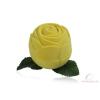 Exkluzív rózsa alakú gyűrű ékszertartó doboz sárga bársony bevonattal