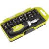 Extol Craft racsnis BIT csavarhúzó klt.; 38db-os, CrV., irányváltós, mágneses, műanyag dobozban - 53092
