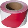 Extol jelölő szalag, piros-fehér; 75mm×250m, polietilén (kordonszalag) (Jelölő szalag)
