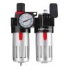 """Extol levegőelőkészítő (légszűrő nyomásszabályozóval, olajozóval ésmanométerrel),max.8Bar,1/4"""",max.60°C,90ml szűrő&90mlolajzó"""