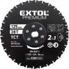 EXTOL PREMIUM_ EXTOL fűrészlap, keményfémlapkás 125×20×16mm, 38T, 2az1ben Twin Blade rendszer, fémre és fára, 8893020 vágógéphez
