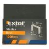 EXTOL PREMIUM EXTOL tűzőgépkapocs (11,3×0,52×0,7); 6mm, 1000db