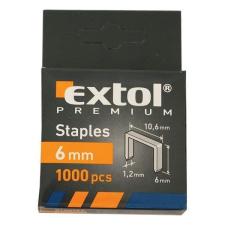 EXTOL PREMIUM EXTOL tűzőgépkapocs profi (10,6×0,52×1,2mm) ; 6mm, 1000db tűzőgép