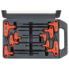 Extol Premium torx kulcs klt., 9db ; CV., gumírozott T-nyelű, T10×100, T15×100, T20×100, T25×150, T27×150, T30×150, T40×150, T45×200, 8819401